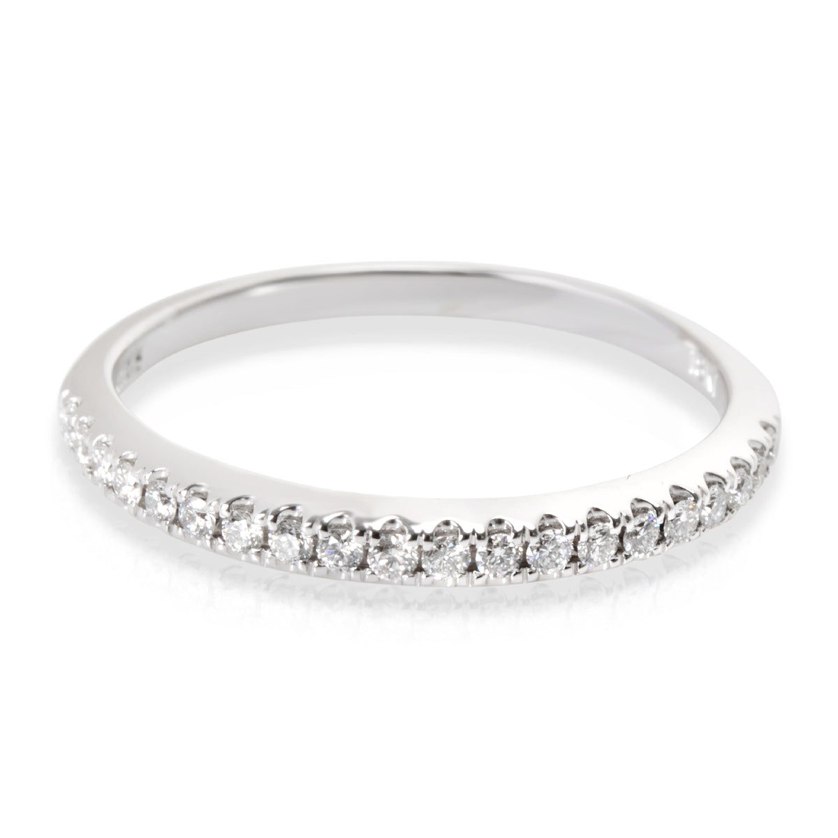 Scott K Diamond Wedding Band in 18K White Gold 0.20 CTW
