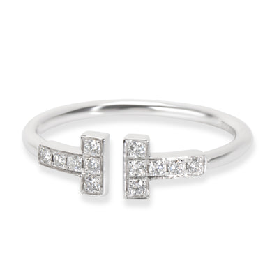 Tiffany & Co. T Wire Diamond Ring in 18KT White Gold 0.13 CTW