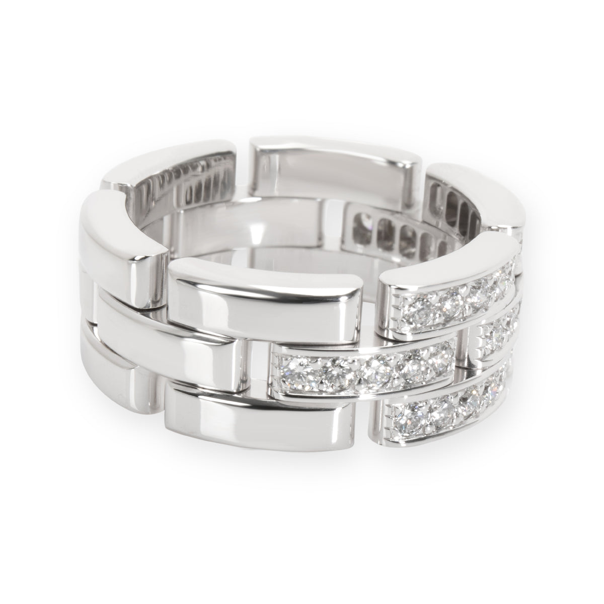 Cartier Maillon Panthere Band in 18KT White Gold 0.53 CTW
