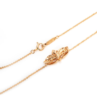 Tiffany & Co. Paper Flower Diamond Firefly Necklace in 18K Rose Gold 0.38 CTW