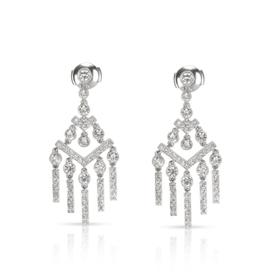 Tiffany & Co. Jazz Diamond Earrings in Platinum 2.00 CTW