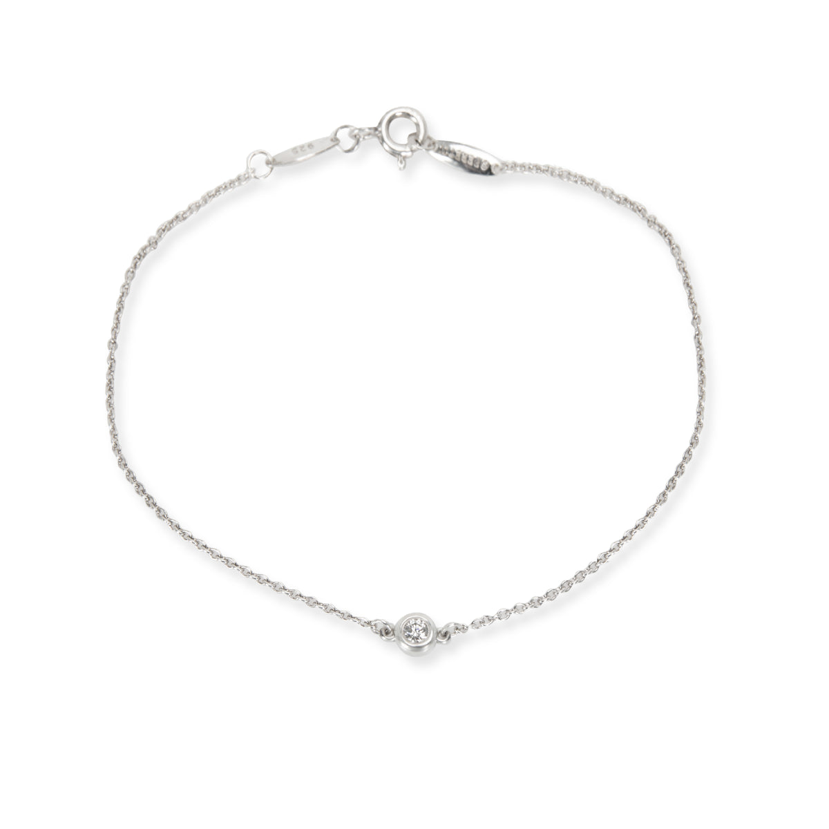 Tiffany & Co. Elsa Peretti Diamond Bracelet in Sterling Silver 0.07 CTW