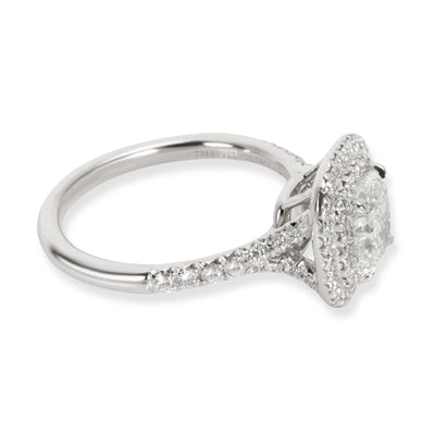 Tiffany & Co. Soleste Diamond Halo Engagement Ring in Platinum H IF 1.45 CTW