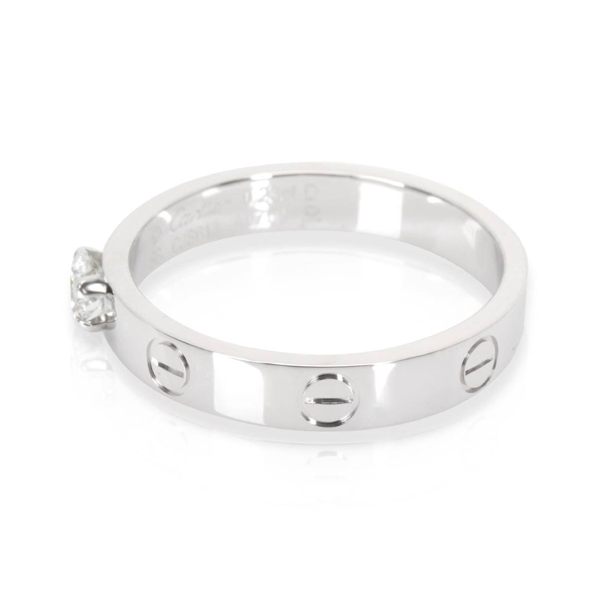 Cartier Love Solitaire Diamond Ring in 18KT White Gold 0.23 CTW