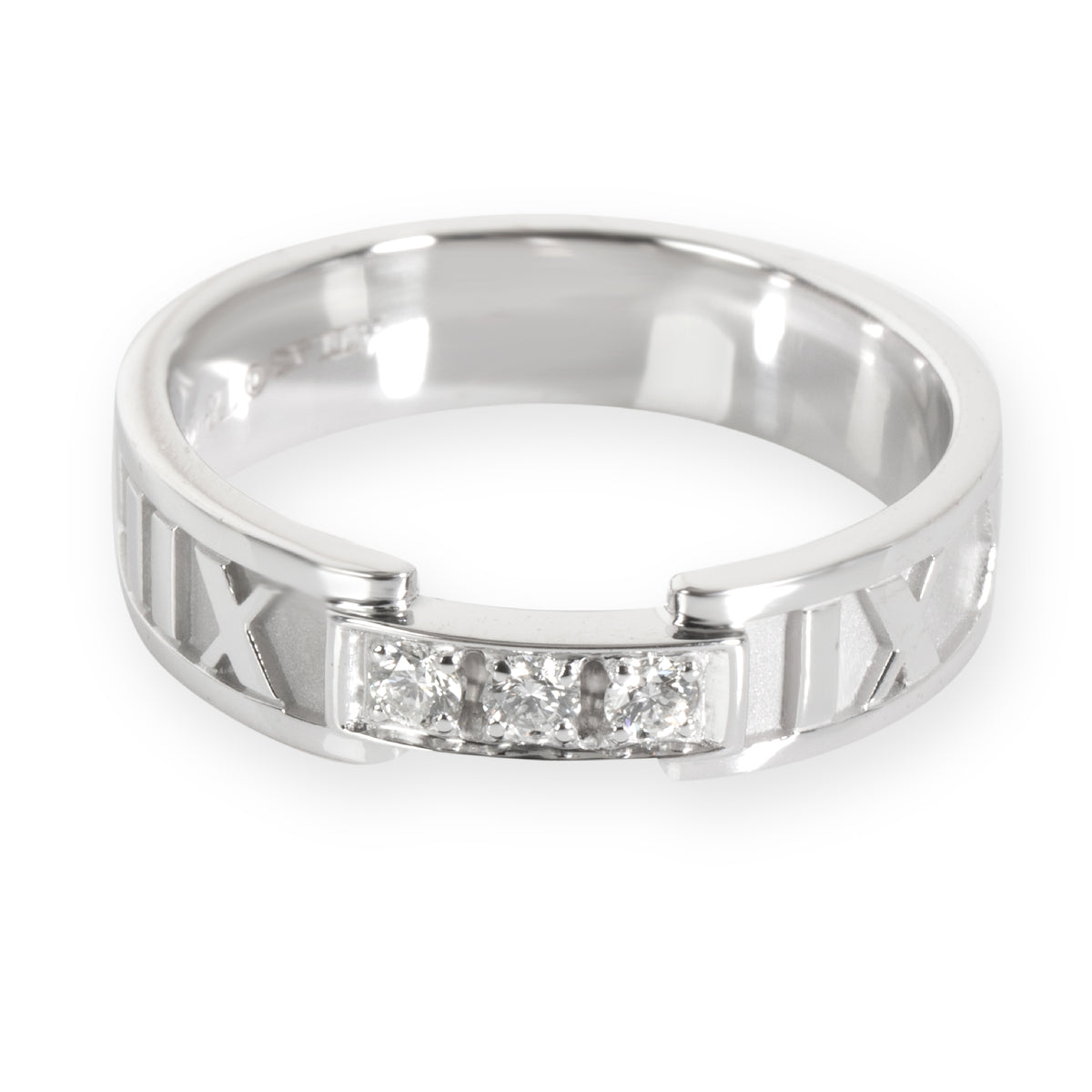 Tiffany & Co. Atlas Diamond Ring in 18KT White Gold 0.15 CTW
