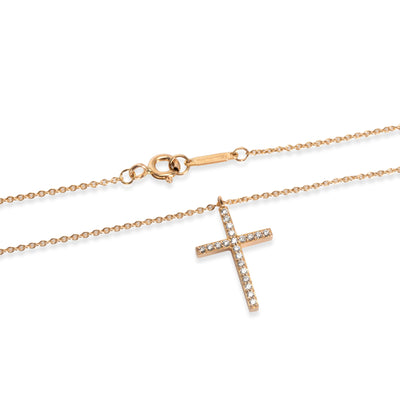 Tiffany & Co. Metro Diamond Necklace in 18KT Rose Gold 0.10 CTW