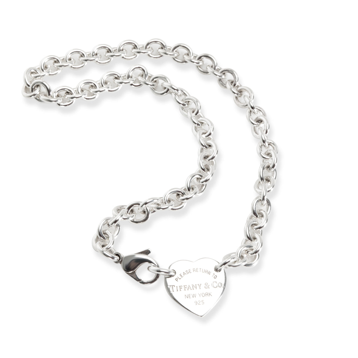 Tiffany & Co. Heart Tag Choker Necklace in  Sterling Silver
