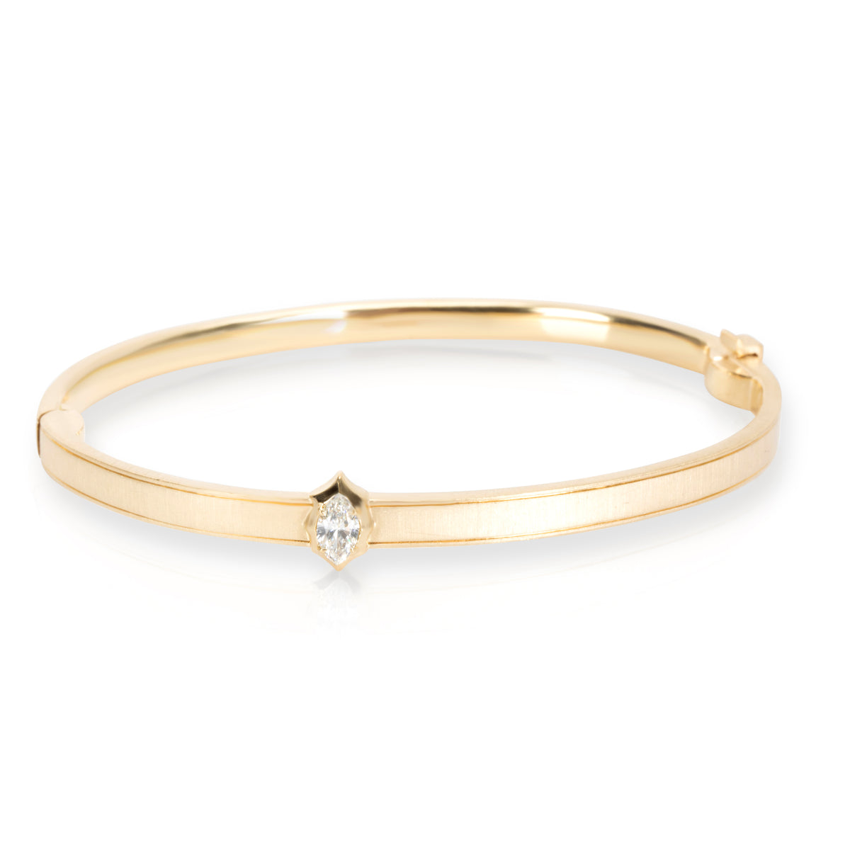 Jade Trau Alchemy Maverick Bangle in 18KT Yellow Gold 0.20 Ct