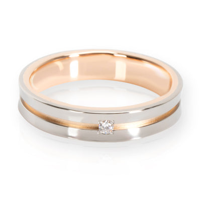 Diamond Wedding Band in 18KT 2 Tone Gold 0.01 CTW