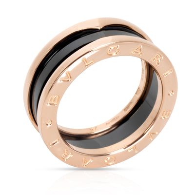 Bulgari B.zero1 Ring with Black Enamel in 18KT Rose Gold