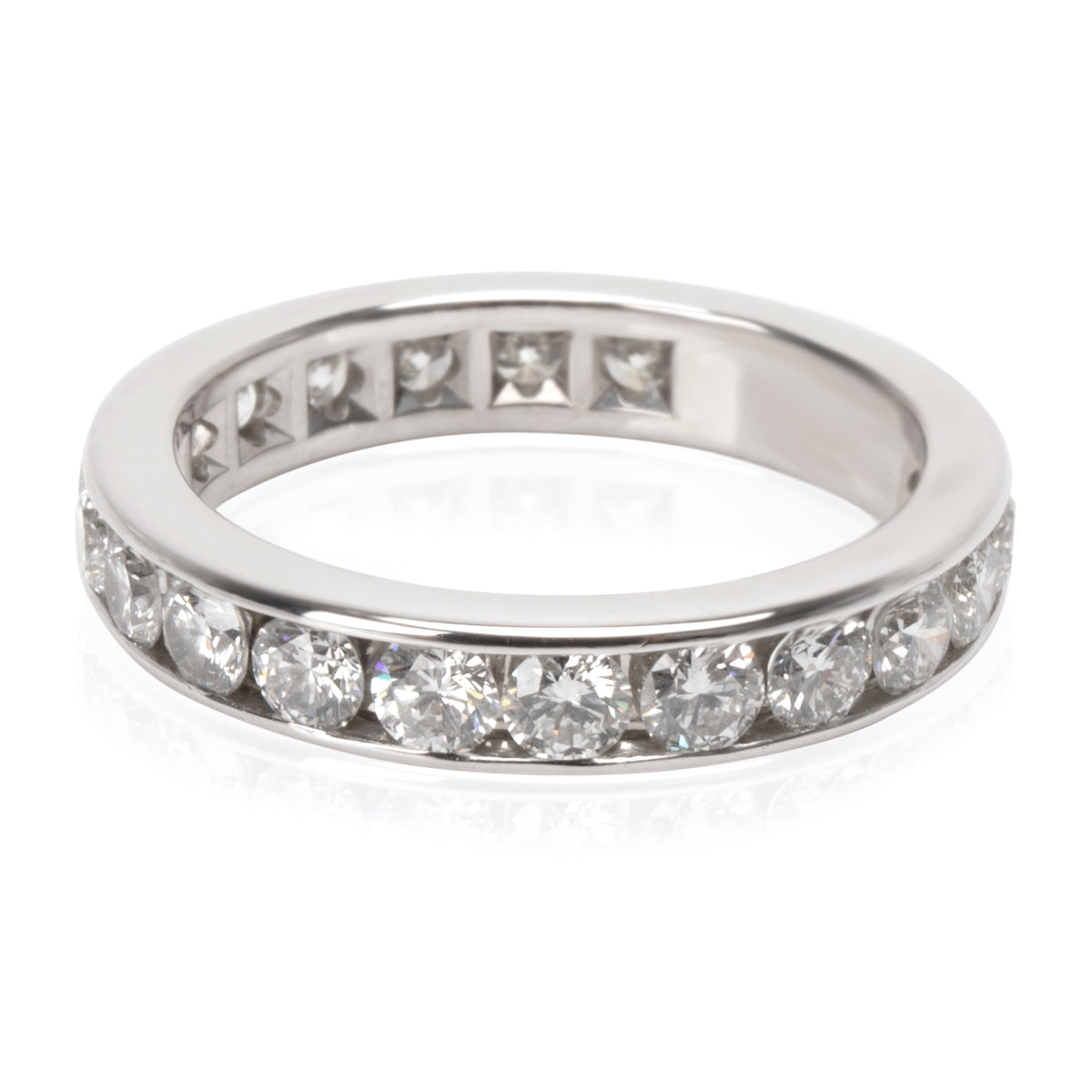 Tiffany & Co. Channel Diamond Eternity Band in  Platinum 1.98 CTW