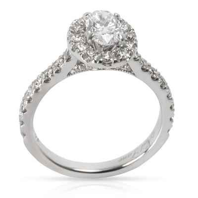 Neil Lane Oval Diamond Engagement Ring in  White Gold I SI2-I1 1.50 CTW
