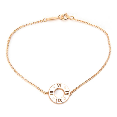 Tiffany & Co. Atlas Diamond Bracelet in 18K Rose Gold 0.02 CTW