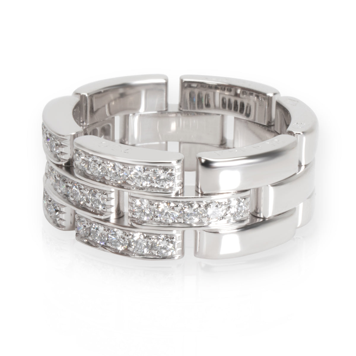 Cartier Maillon Panthere Diamond Band in 18K White Gold 0.5 CTW