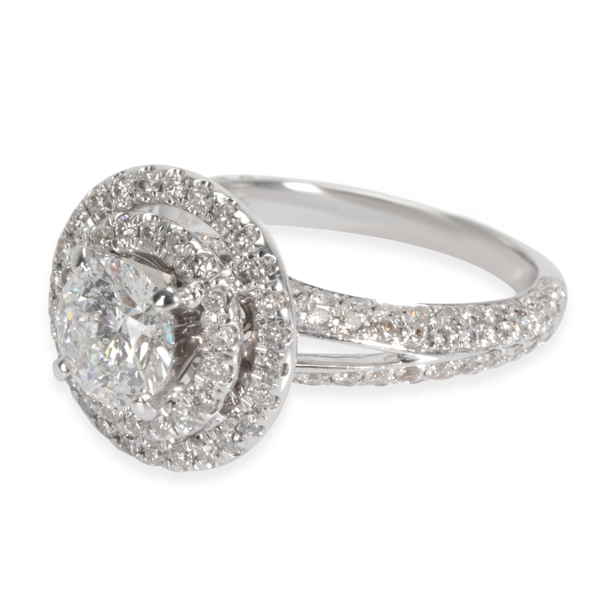 Neil Lane Double Halo Diamond Engagement Ring in 14K White Gold 2.00 CTW
