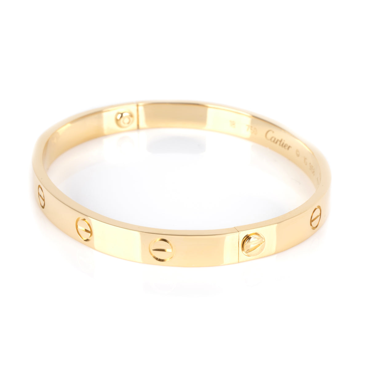 Cartier Love Bracelet in 18K Yellow Gold Size 18