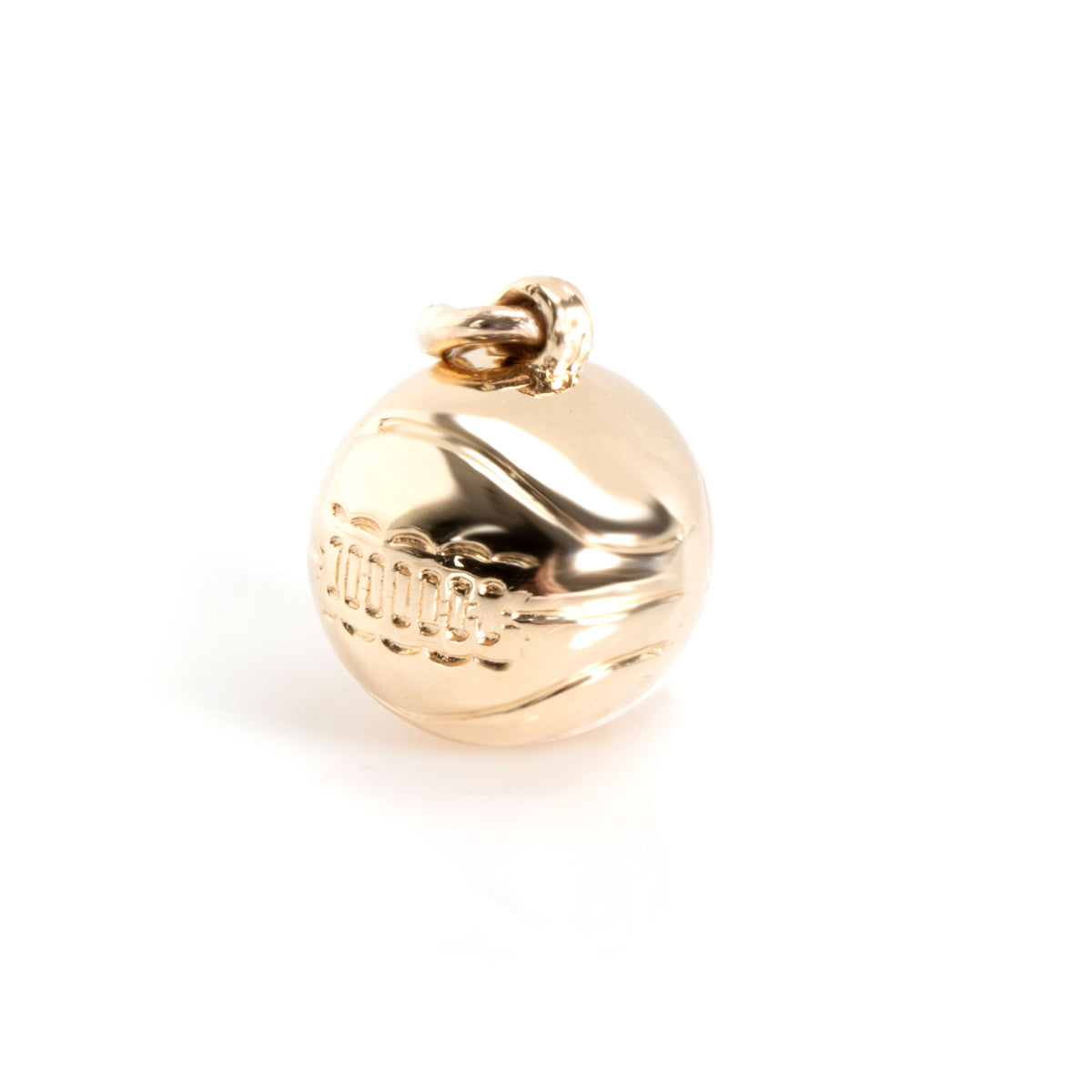 Vintage Baseball Charm in 14K Yellow Gold