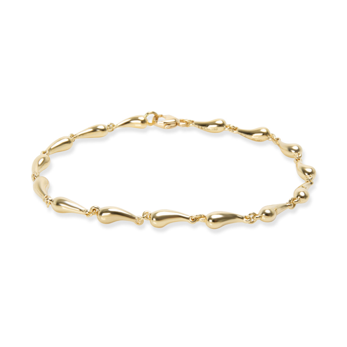 Tiffany & Co. Elsa Peretti Teardrop Bracelet in 18K Yellow Gold