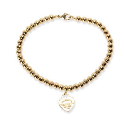 Tiffany & Co. Return to Tiffany Mini Heart Tag Ball Bracelet 18K Yellow Gold