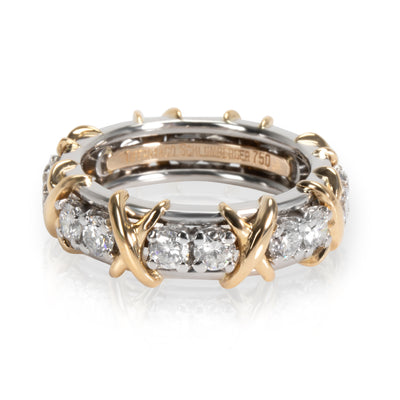 Tiffany & Co. Schlumberger Diamond Eternity band in Gold and Platinum 1.14CTW