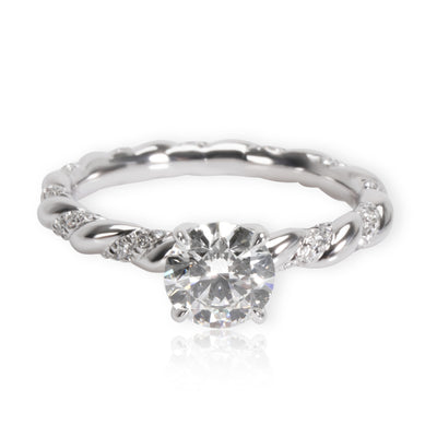 David Yurman Unity Diamond Engagement Ring in Platinum GIA F VS2 1.10ctw