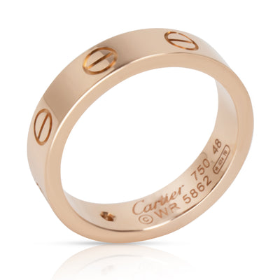 Cartier Love Diamond Band in 18K Rose Gold 0.03 CTW