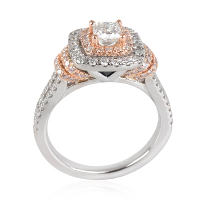 Vera Wang Love Collection Halo Diamond Engagement Ring in 14K Gold 1.20 CTW