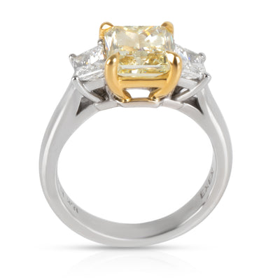 Fancy Yellow Diamond Engagement Ring in Platinum GIA Certified VS2 2.13 CTW