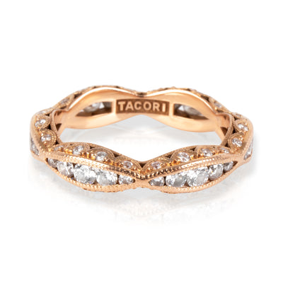 Tacori Diamond wedding Band in 18K Rose Gold 0.42 CTW