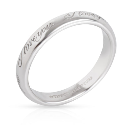 Tiffany & Co. I love You Notes Band in  Platinum