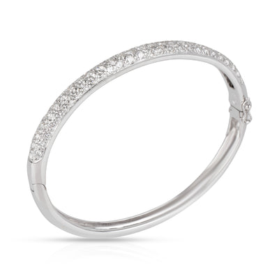 Pave Diamond Bangle in 18K White Gold 2.74 CTW
