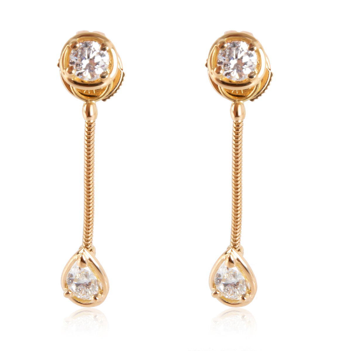 Van Cleef & Arpels La Pluie Diamond Drop Earrings in 18K Yellow Gold D VVS1 1