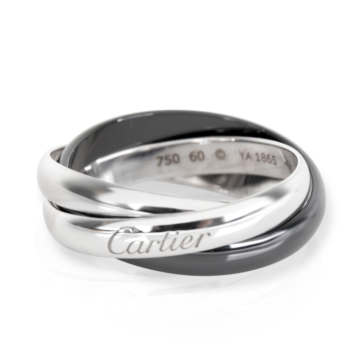 Cartier Trinity Ceramic Band in 18K White Gold
