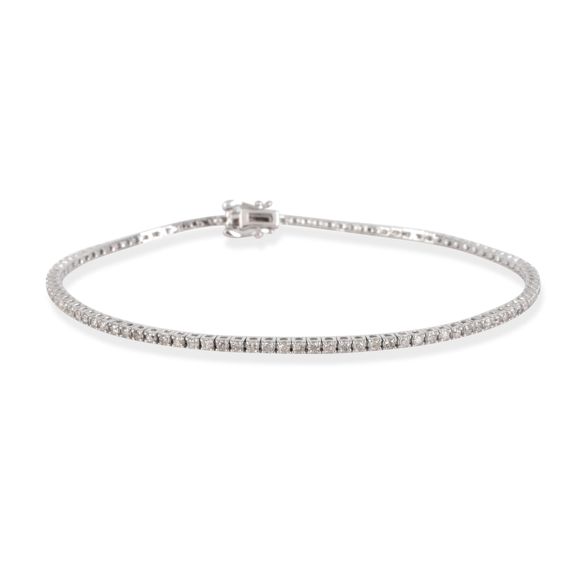 Diamond Tennis Bracelet in 14K White Gold 1.00 CTW