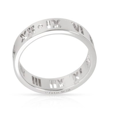 Tiffany & Co. Atlas Diamond Band in 18K White Gold 0.06 CTW