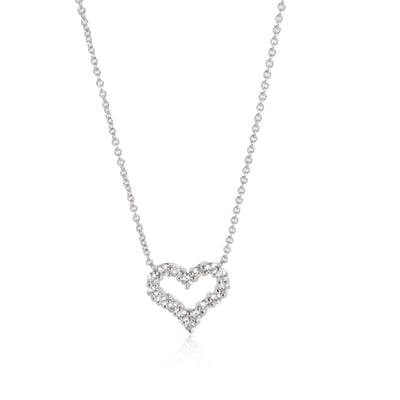 Tiffany & Co. Diamond Heart Necklace in  Platinum 0.25 CTW