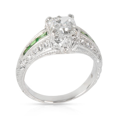 Beverley K Diamond Engagement Ring in 18K White Gold E SI1 1.56 CTW