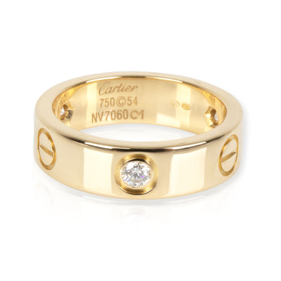 Cartier Love Diamond Band in 18K Yellow Gold 0.30 CTW