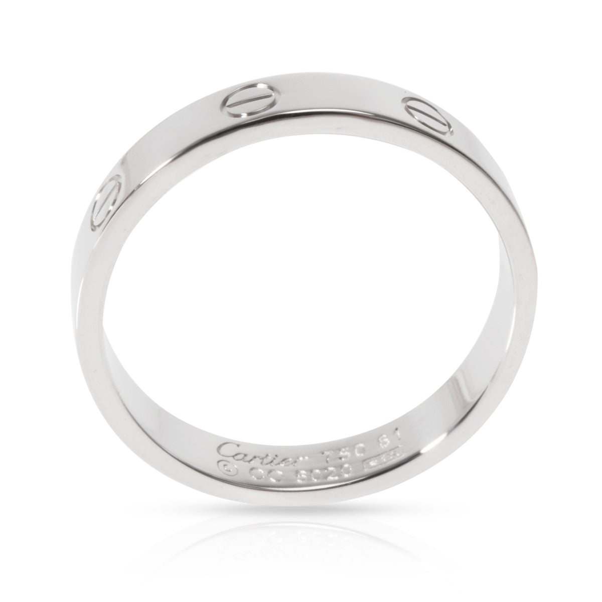 Cartier Love Ring in 18K White Gold 4mm Size 61