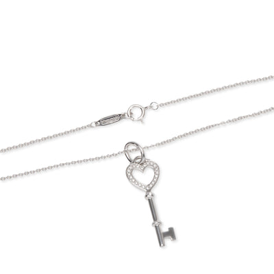 Tiffany & Co. Tiffany Keys Diamond Necklace in 18K White Gold 0.05 CTW