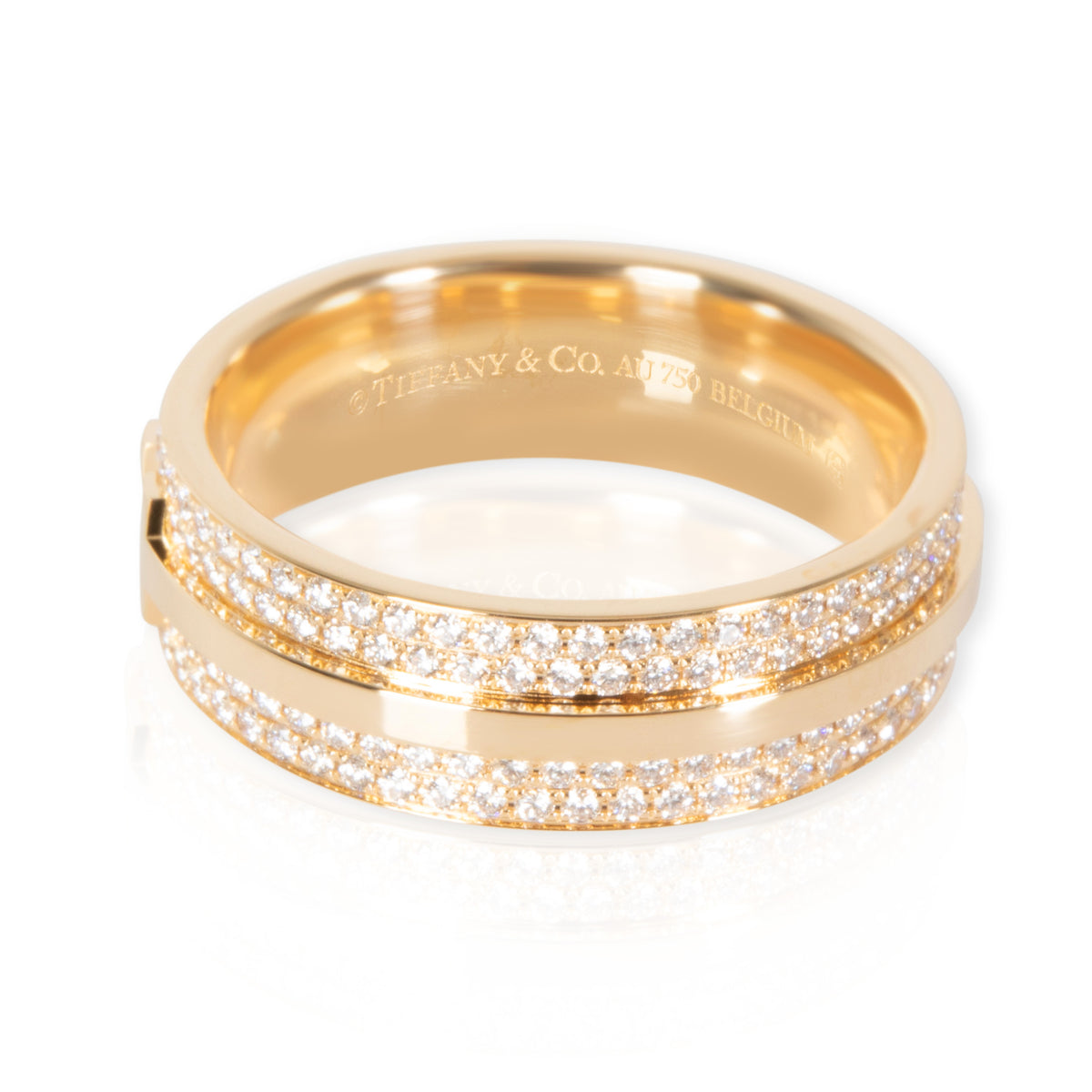 Tiffany & Co. T Diamond Band in 18K Yellow Gold 0.57 CTW
