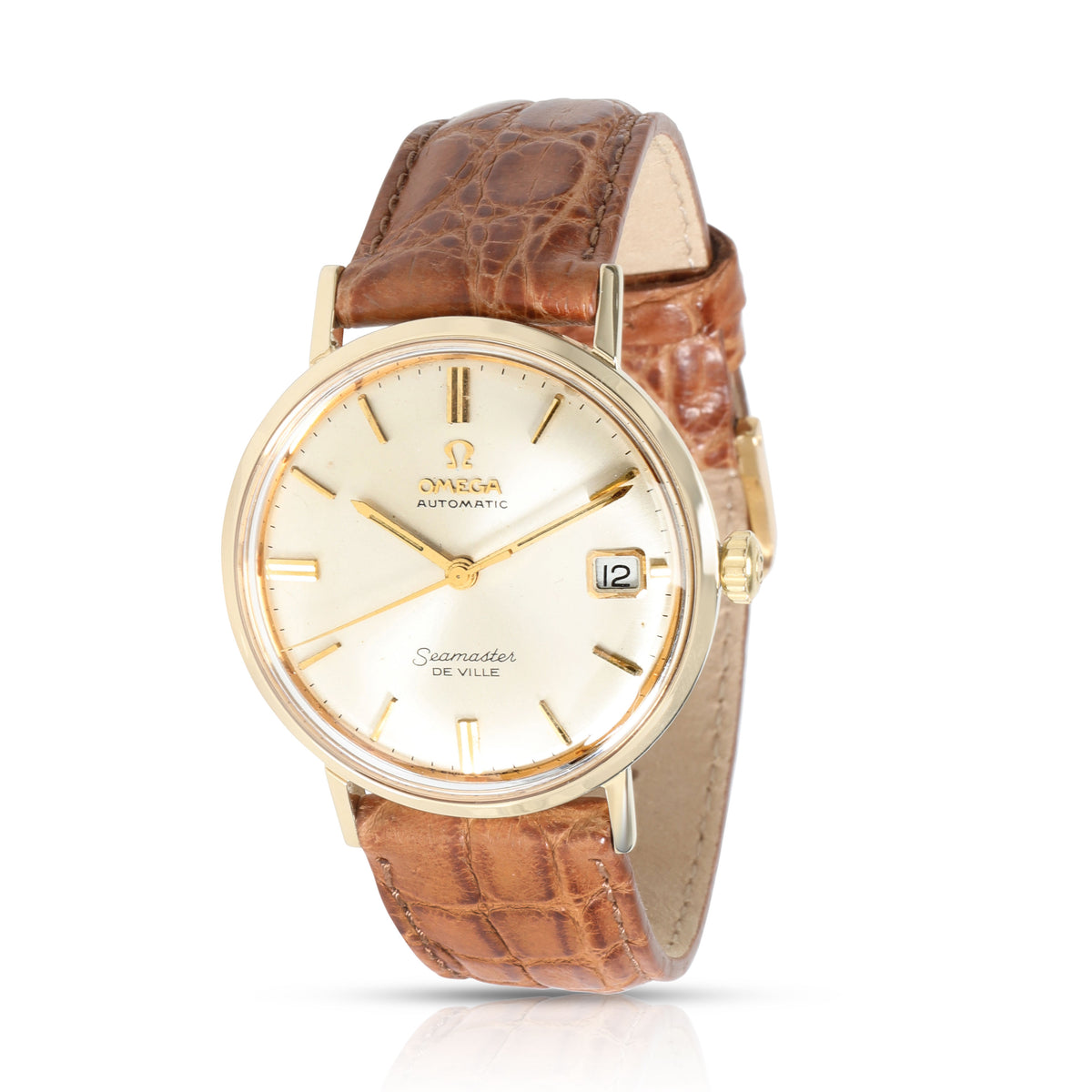 Omega Seamaster DeVille 166.002 Men's Watch in 14kt Yellow Gold