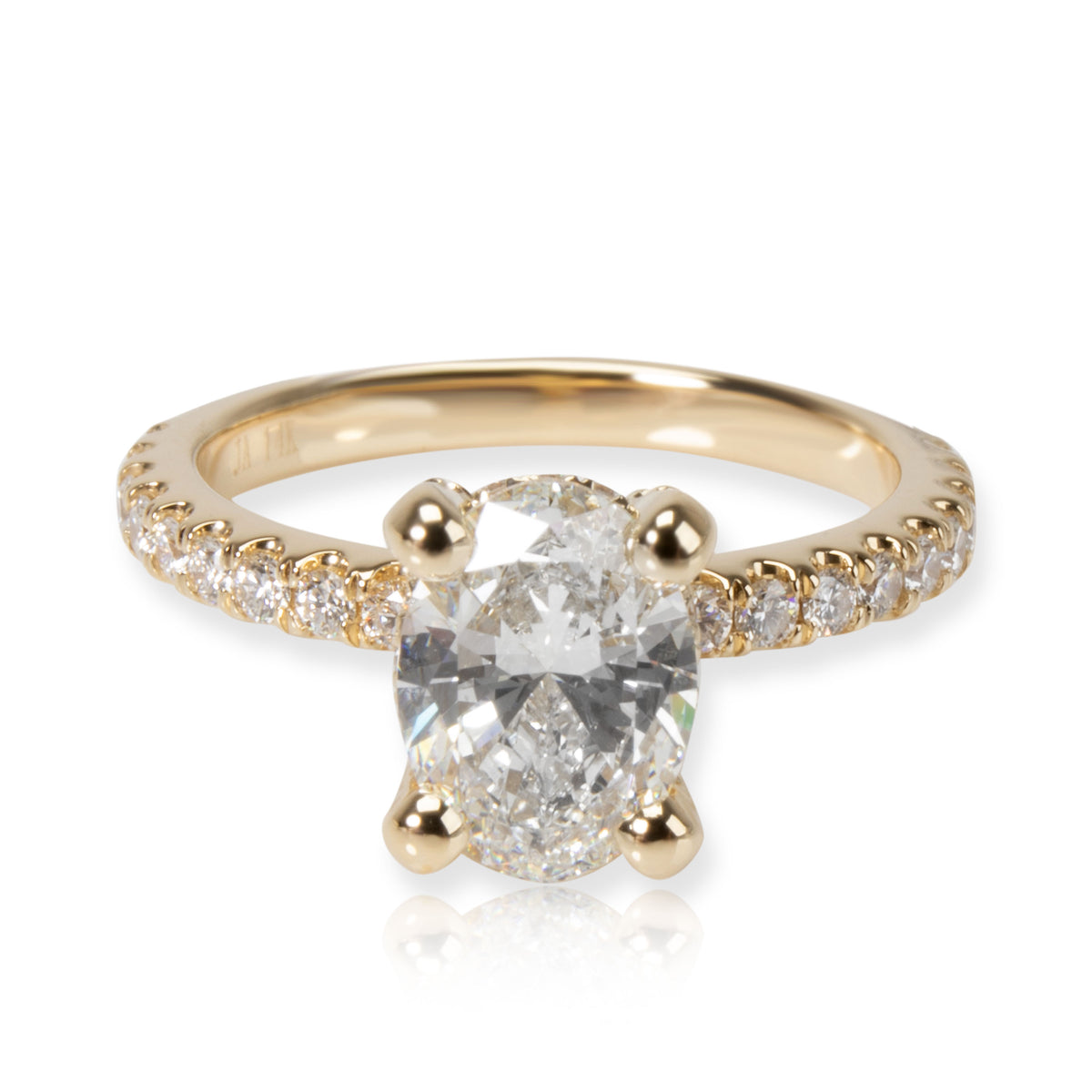 James Allen Oval Diamond Engagement Ring in 14K Yellow Gold GIA F VS2 1.33 CTW
