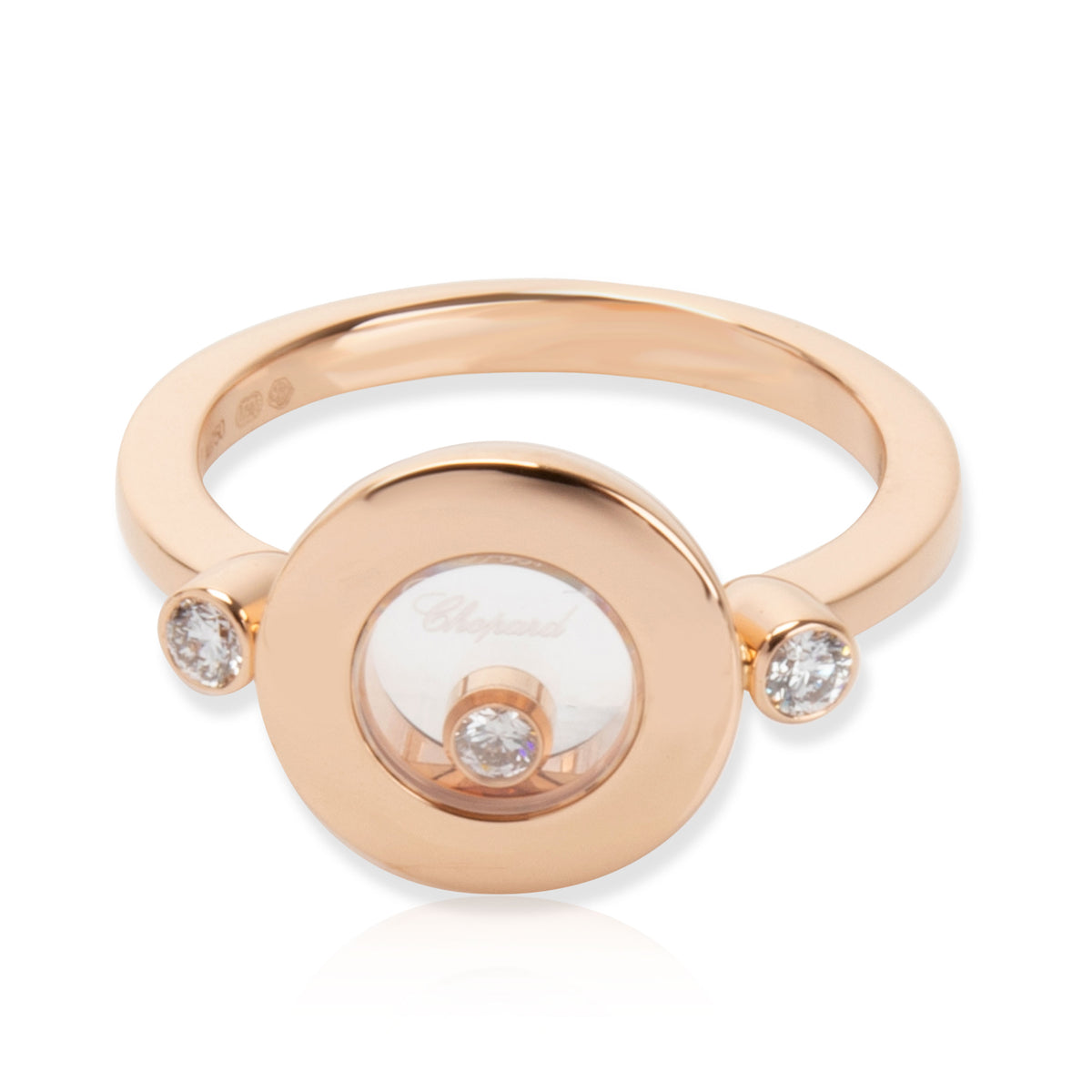 Chopard Happy Diamonds Ring in 18K Rose Gold 0.14 CTW