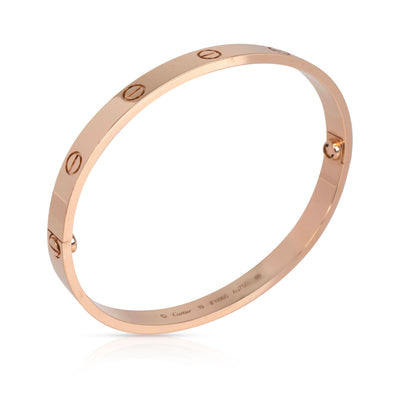 Cartier Love Bracelet in 18K Rose Gold Size 19