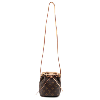Louis Vuitton Brown Monogram Canvas Nano Noé Drawstring Bag