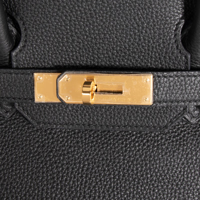 Hermès Black Togo Leather Birkin 30 with Gold Hardware
