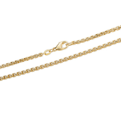Box Chain in 14K Yellow Gold 2.3mm