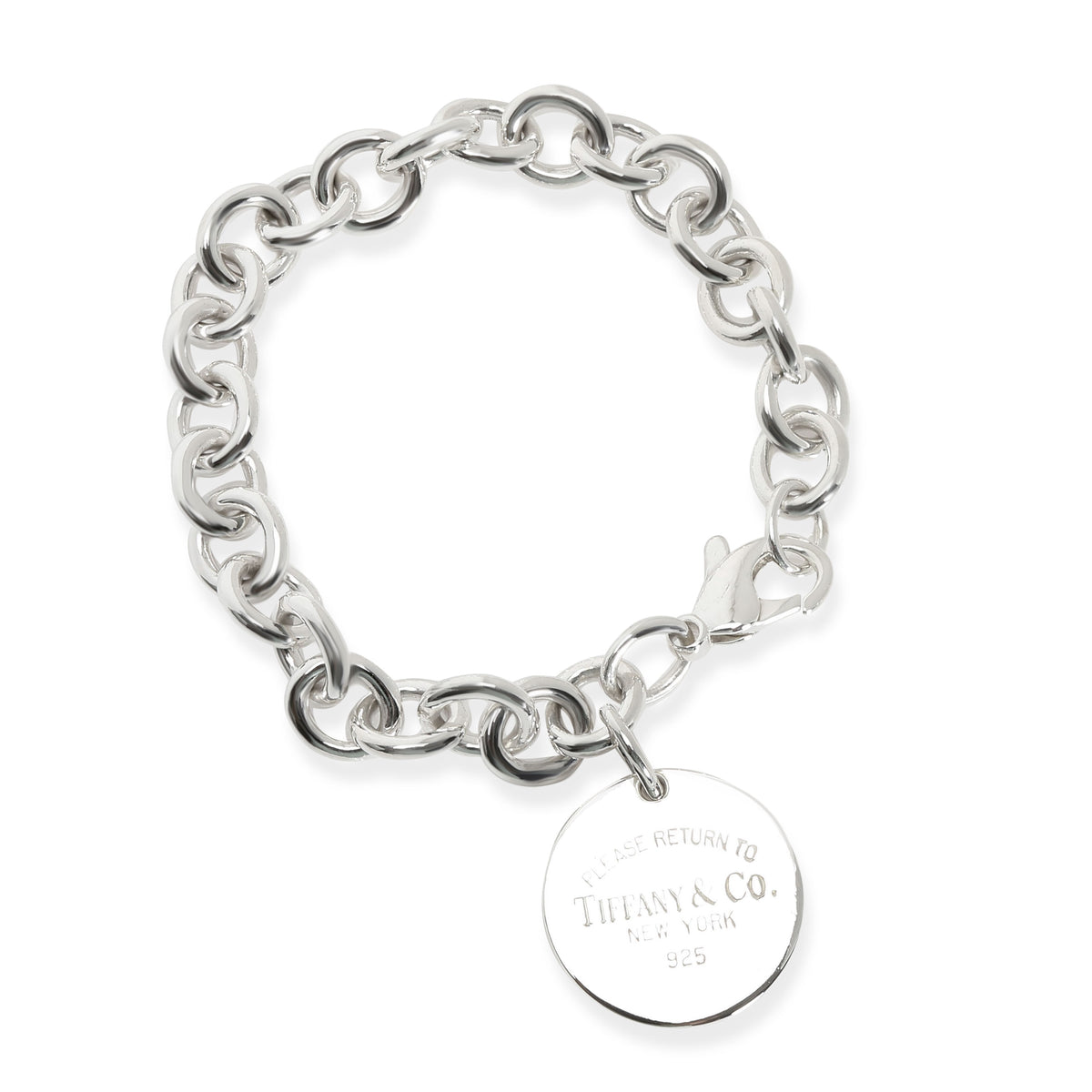 Tiffany & Co. Return To Tiffany Round Tag Bracelet in Sterling Silver