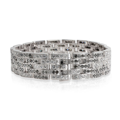Cartier Maillon Panthere Diamond Bracelet in 18K White Gold 10 CTW